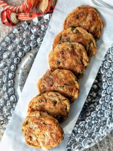 Baked aloo tikki in the oven