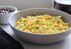 Tofu scramble with green onions