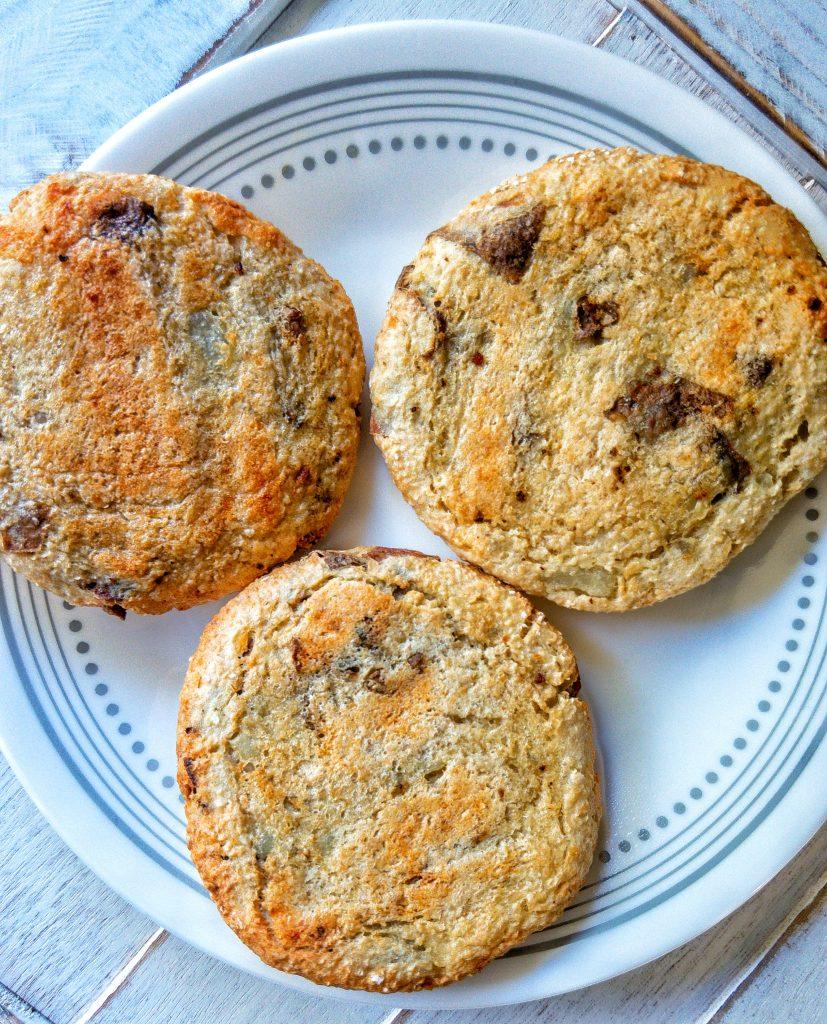 Toaster oven potato cakes or patties