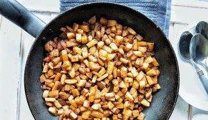 Pan-fried breakfast potatoes or home fries