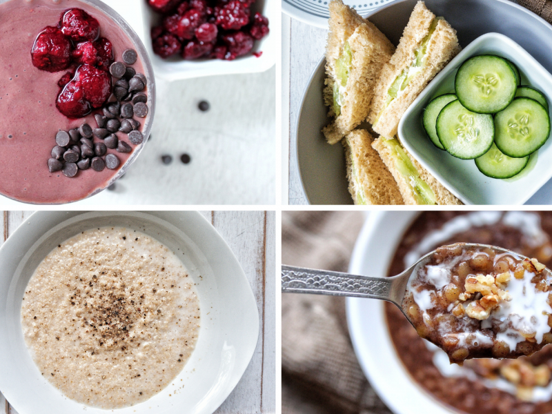 plant based breakfast recipes collage