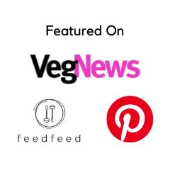 Featured on VegNews, FeedFeed, Pinterest (logos)