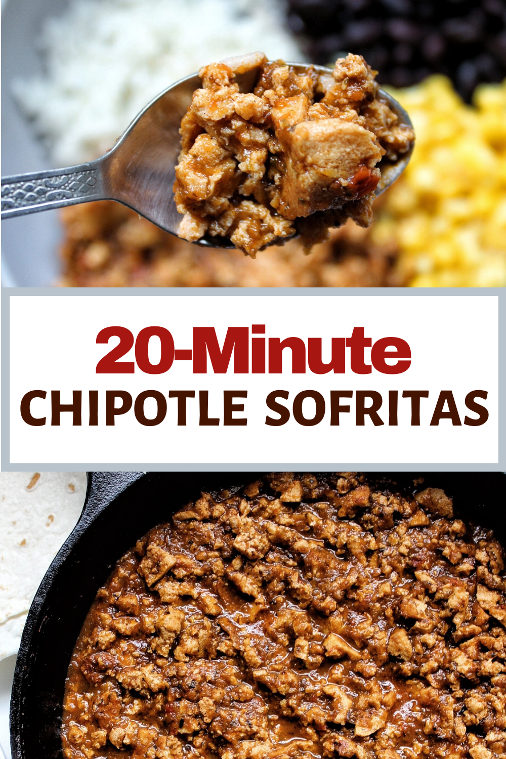 Vegan Chipotle-inspired sofritas ready in just 20 minutes!