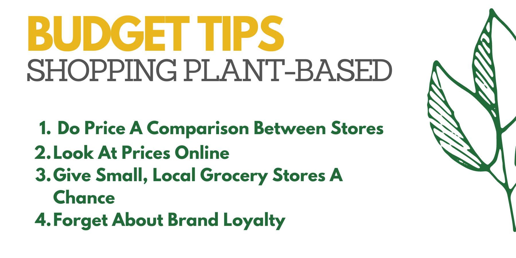 Shopping plant-based budget tips