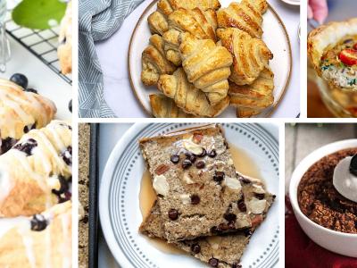 Collage Christmas breakfast