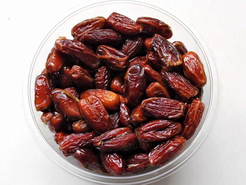 Noor dates in a bowl