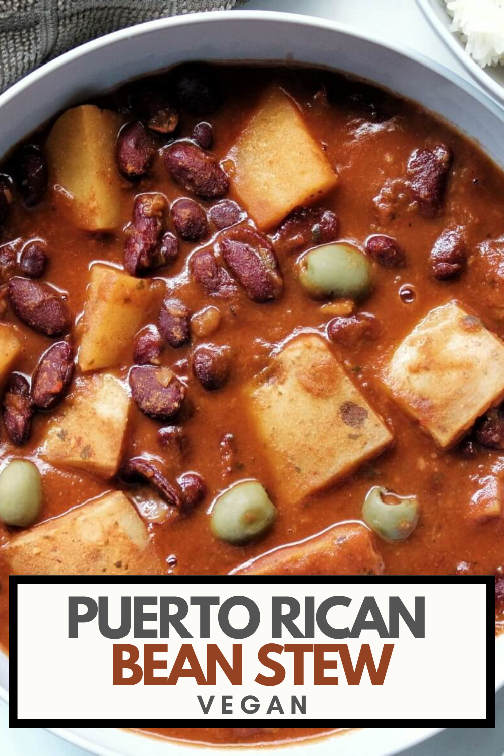 Pinnable for Pinterest. Puerto Rican stew.