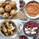 Gluten-free cookie dough balls, applesauce, chocolate muffins, chocolate chia seed pudding